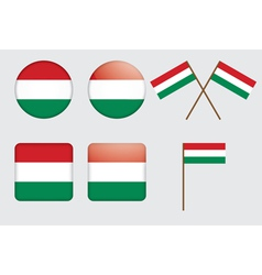 Badges with flag of hungary vector