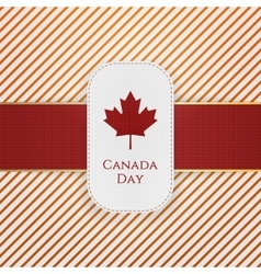 Canada day paper tag with red ribbon vector