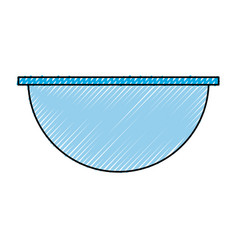 Empty salad dish vector