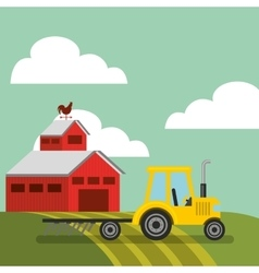 Farm and agriculture design vector