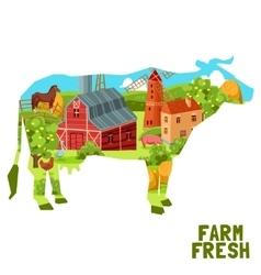 Farm Cow Concept vector image