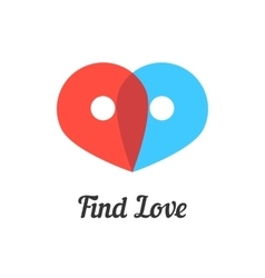 find love mark with transparent pins vector image vector image