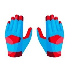 Gloves of the goalkeeper icon cartoon style vector