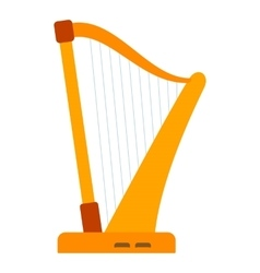 Harp icon flat style vector image