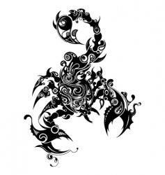 oriental scorpio vector image