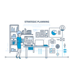 Planning strategy marketing strategy investment vector