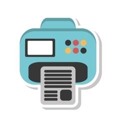 Printer document isolated icon vector
