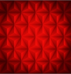 Red Geometric abstract low-poly paper background vector image vector image