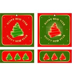 set of christmas tags vector image vector image
