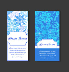 set templates with space for text and background vector image vector image