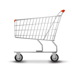 shopping cart isolated on white background flat vector image vector image