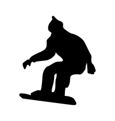 Snowboarder black silhouette vector image