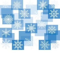 Snowflakes on a background of squares vector