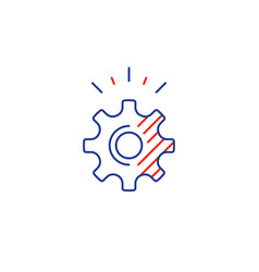 technical smart solution cogwheel line icon vector image