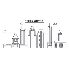 texas austin architecture line skyline vector image vector image