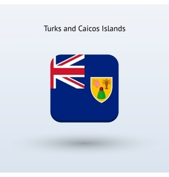 Turks and caicos islands flag icon vector