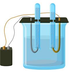 water electrolysis process vector image vector image
