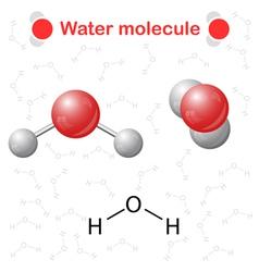 Water molecule icons vector