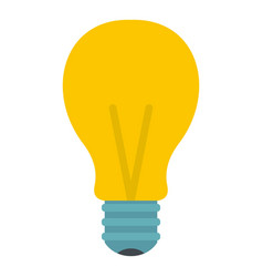 yellow light bulb icon isolated vector image vector image
