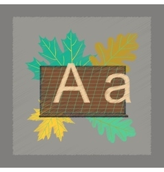 flat shading style icon education blackboard vector image