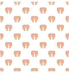Baby legs pattern cartoon style vector