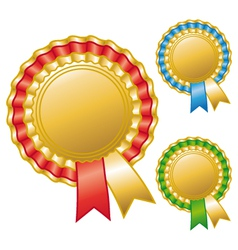 Blank awards ribbons vector image