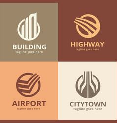 building logo template design vector image
