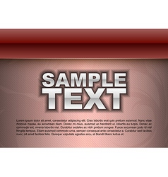 template red stripe text vector image