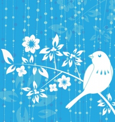 Bird decoration vector