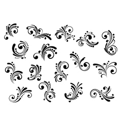 Floral motifs and design elements vector