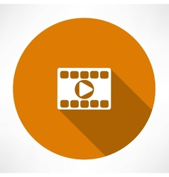 Play video icon vector