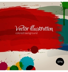 Colored paintbrush vector