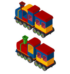 3d design for trains vector image