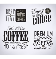 Set of coffee  cafe typographic elements vector