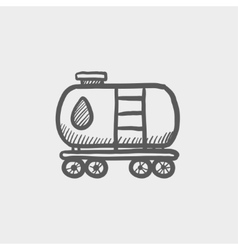 Gas and oil tank sketch icon vector