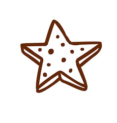 Hand drawn 3d star vector