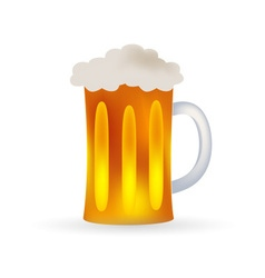 Full glass of beer alcohol drink eps10 vector