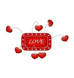 Red frame with love vector