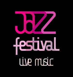 Jazz live music vector