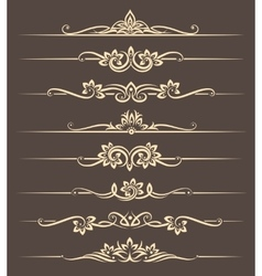 Calligraphic design elements page dividers with vector