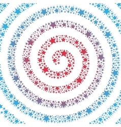 Spiral of the stars on a white background vector