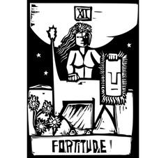 Tarot Card Fortitude vector image