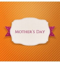 Mothers day realistic holiday banner template vector