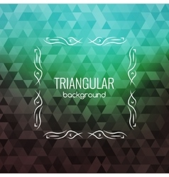 Retro background hipster triangles bright colors vector