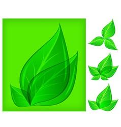natural design leaf green background 10 v vector image