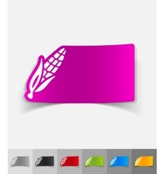 Realistic design element corn vector