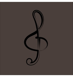 a black clef isolated on white vector image
