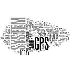 A handy gps system text word cloud concept vector