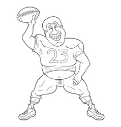American football player dancing with a ball vector