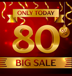 Big sale eighty percent for discount vector